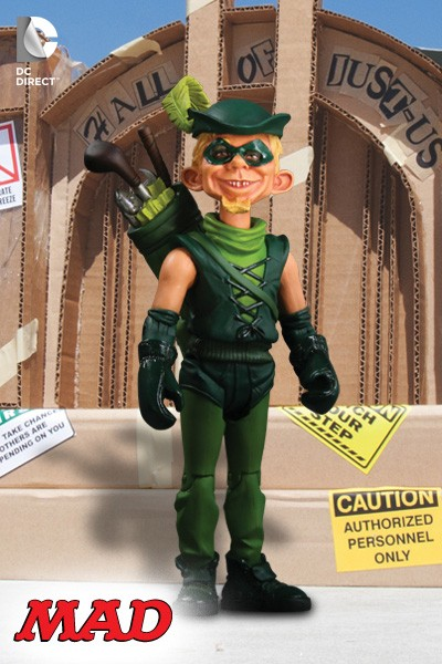 DC Direct MAD Magazine Just Us League Green Arrow Action Figure